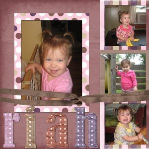 Scrapbook layout of my adorable niece!