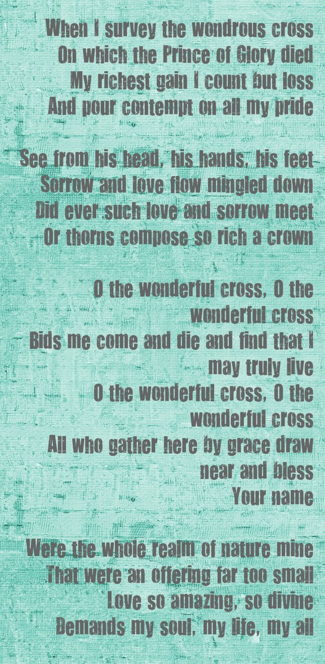 Wondrous Cross word art