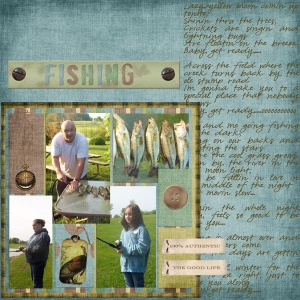 Layout for TNBT Round 1.  Theme was favorite summer song, I used Fishing in the Dark.