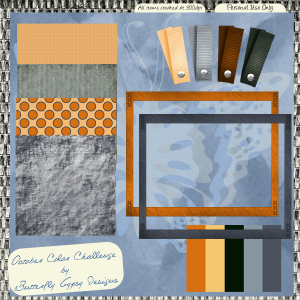 October Color Challenge Mini-kit Freebie