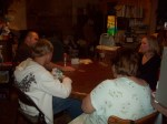 The family playing Phase 10 on Thanksgiving night