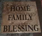 Home Family Blessing tile