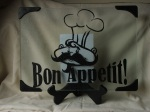 Bon Appetit! with Chef Cutting Board